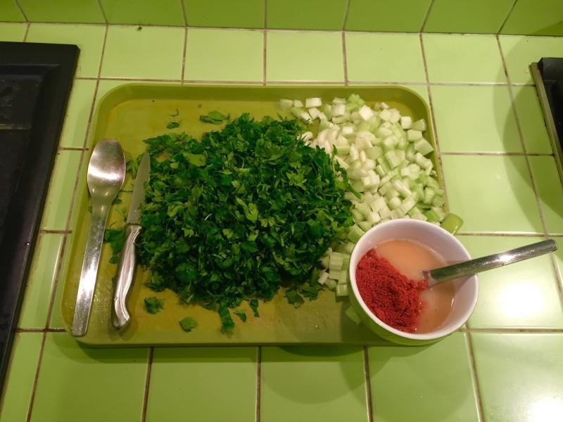 Согревающий овощной салат